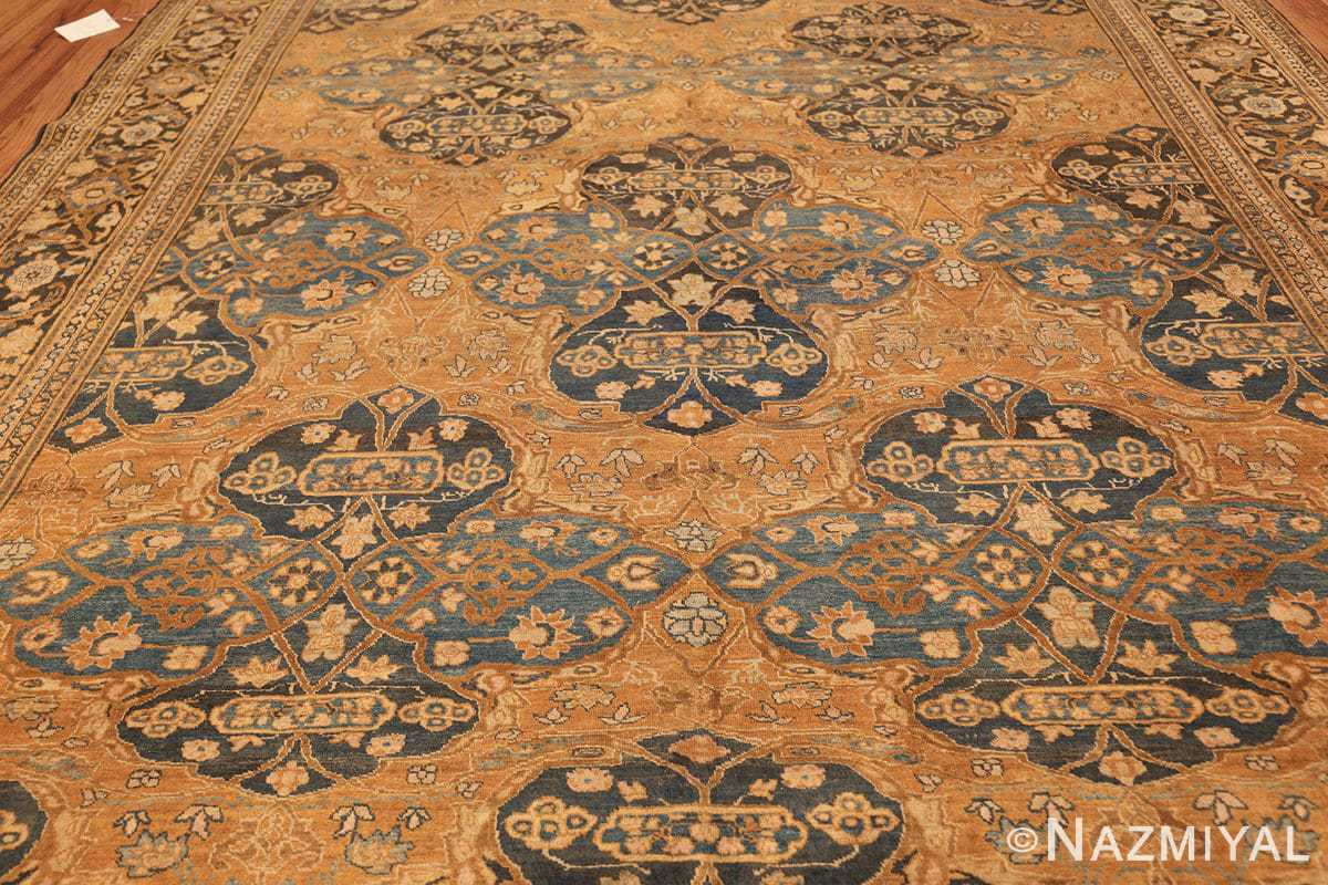 antique brown color persian khorassan rug 49708 field Nazmiyal