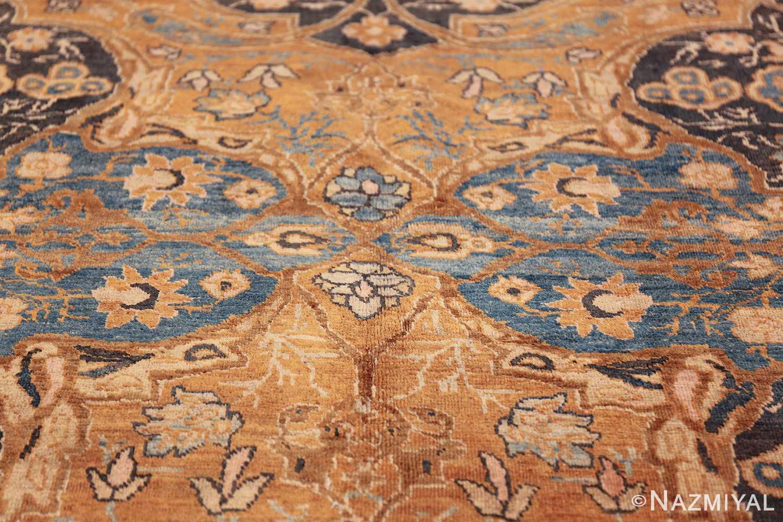 antique brown color persian khorassan rug 49708 flower Nazmiyal