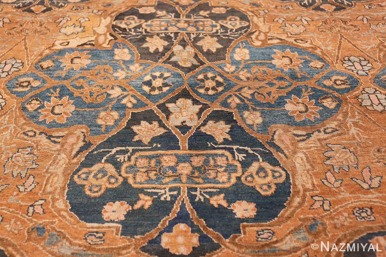 antique brown color persian khorassan rug 49708 medallion Nazmiyal