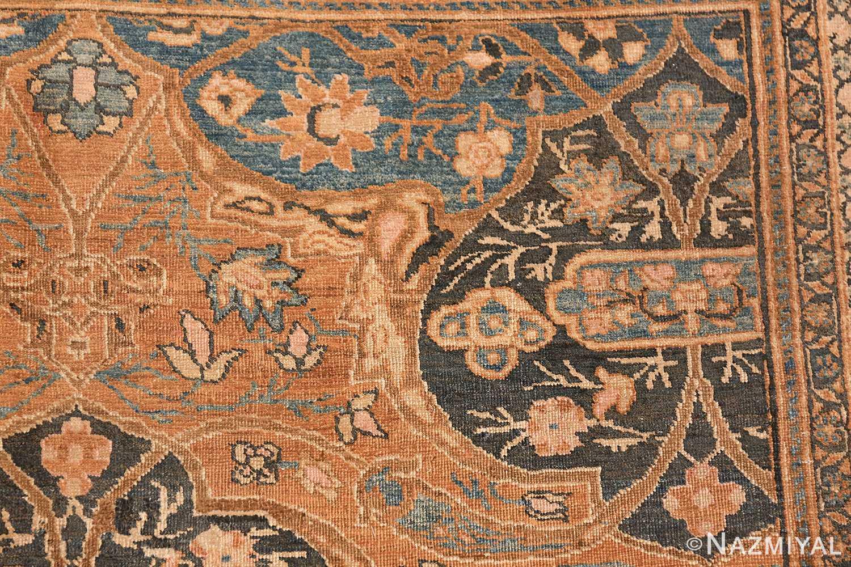 antique brown color persian khorassan rug 49708 side Nazmiyal