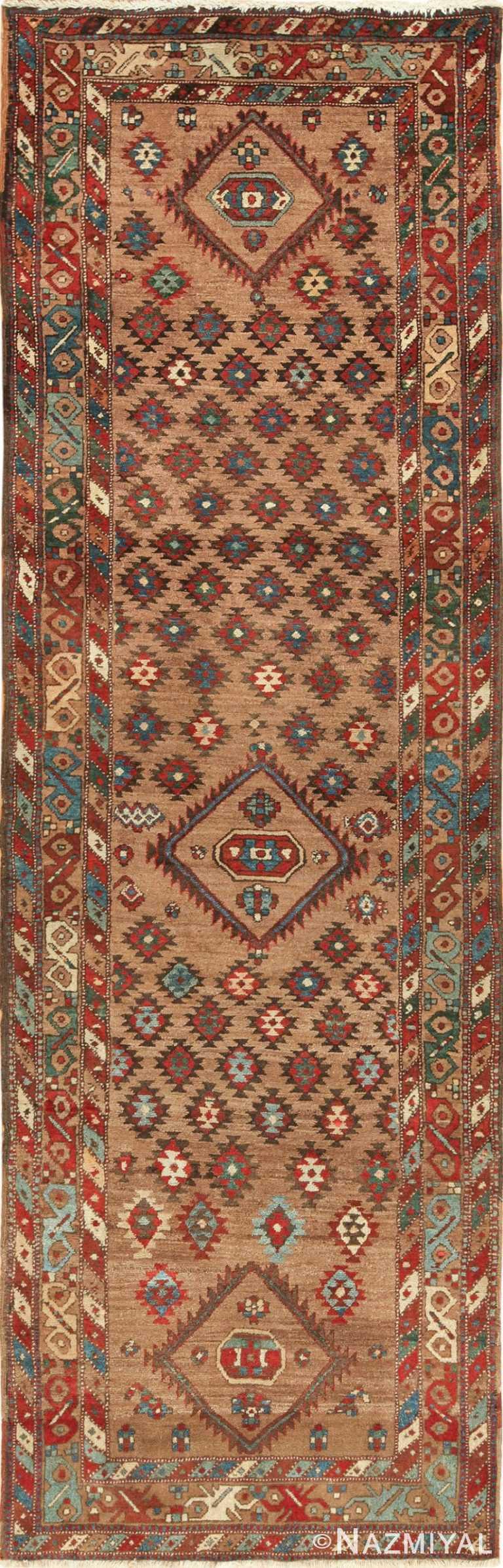 Tribal Antique Persian Bakshaish Runner Rug 49712 by Nazmiyal