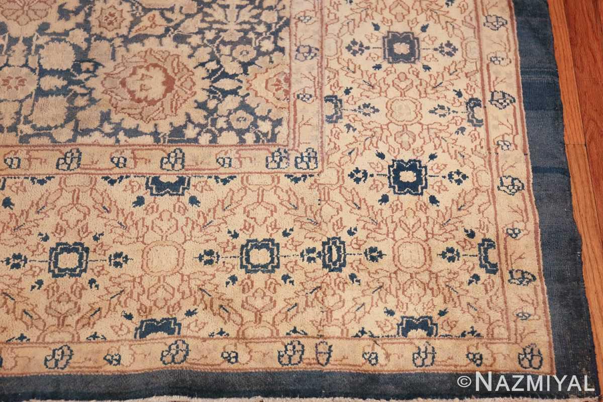 antique gray background persian tabriz rug 49714 corner Nazmiyal