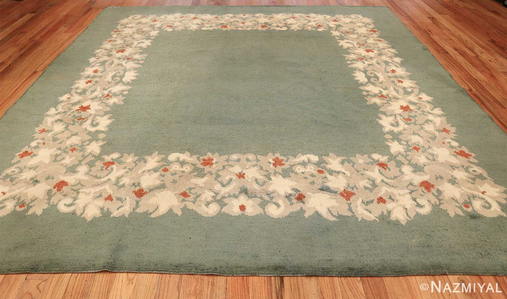 antique green color square french art deco rug by leleu 49690 whole Nazmiyal
