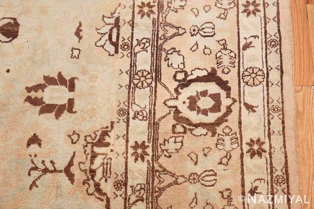 antique light blue color persian tabriz rug 49707 border Nazmiyal