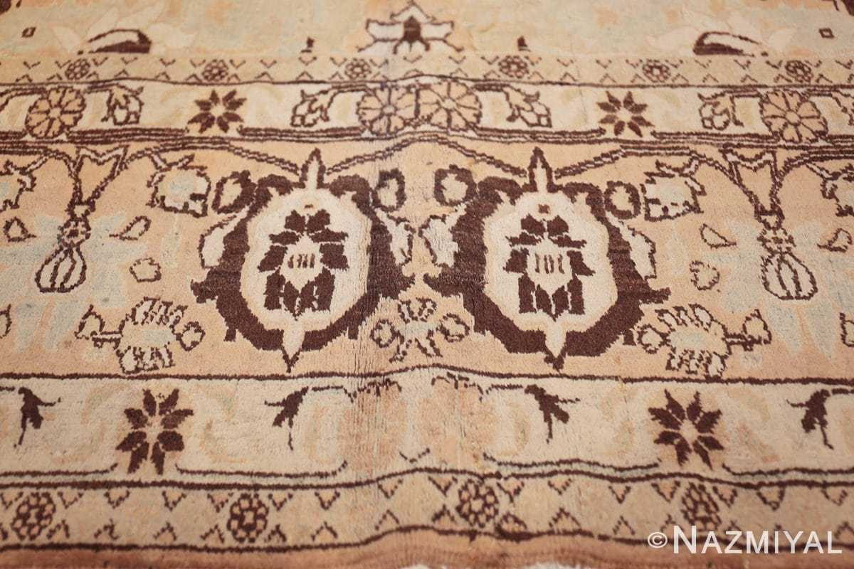 antique light blue color persian tabriz rug 49707 double