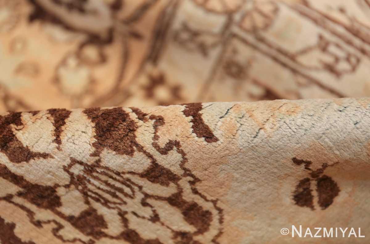 antique light blue color persian tabriz rug 49707 pile Nazmiyal