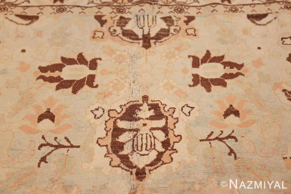 antique light blue color persian tabriz rug 49707 top Nazmiyal
