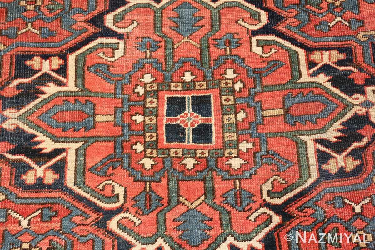 antique room size persian heriz rug 49479 center Nazmiyal