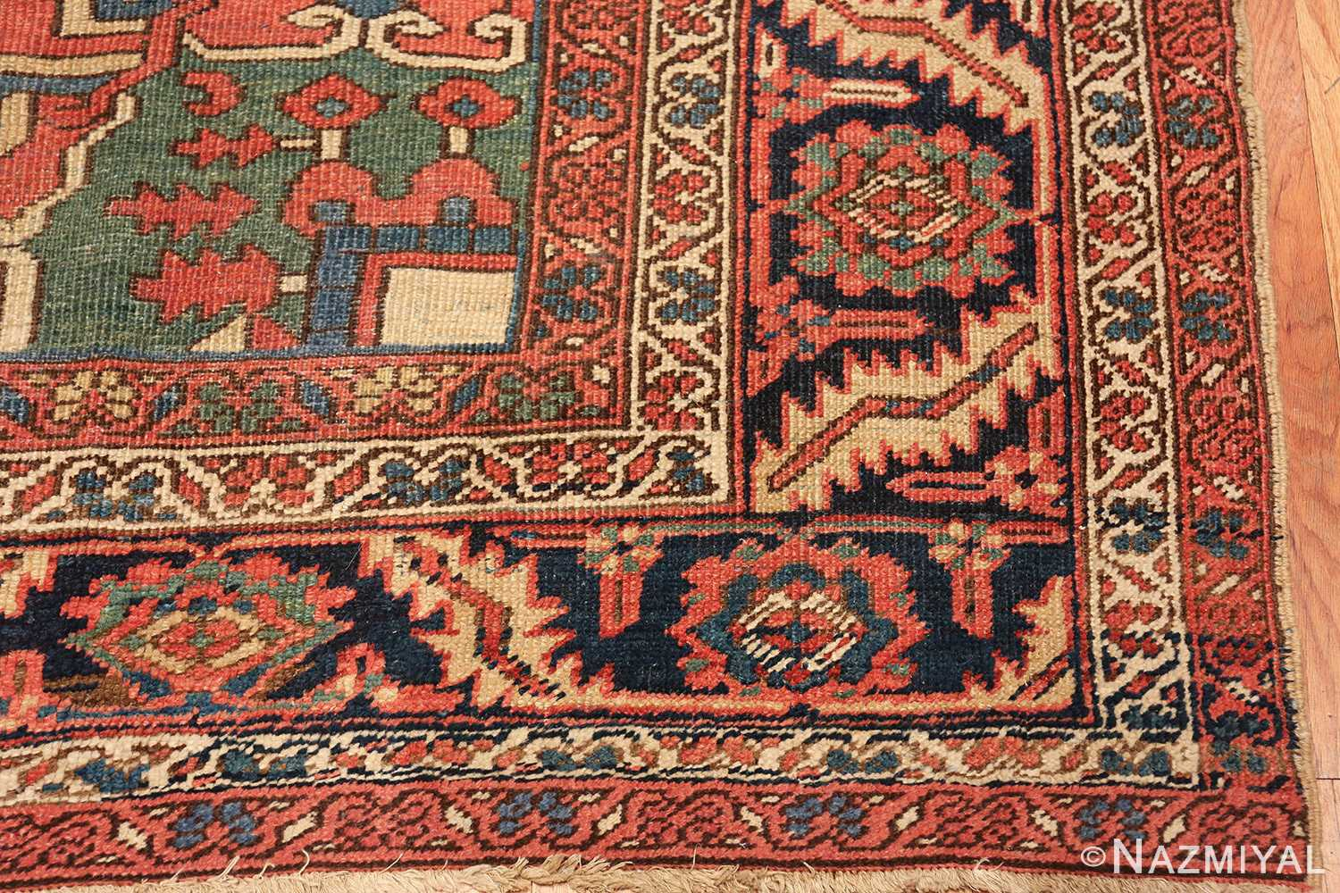 antique room size persian heriz rug 49479 corner Nazmiyal