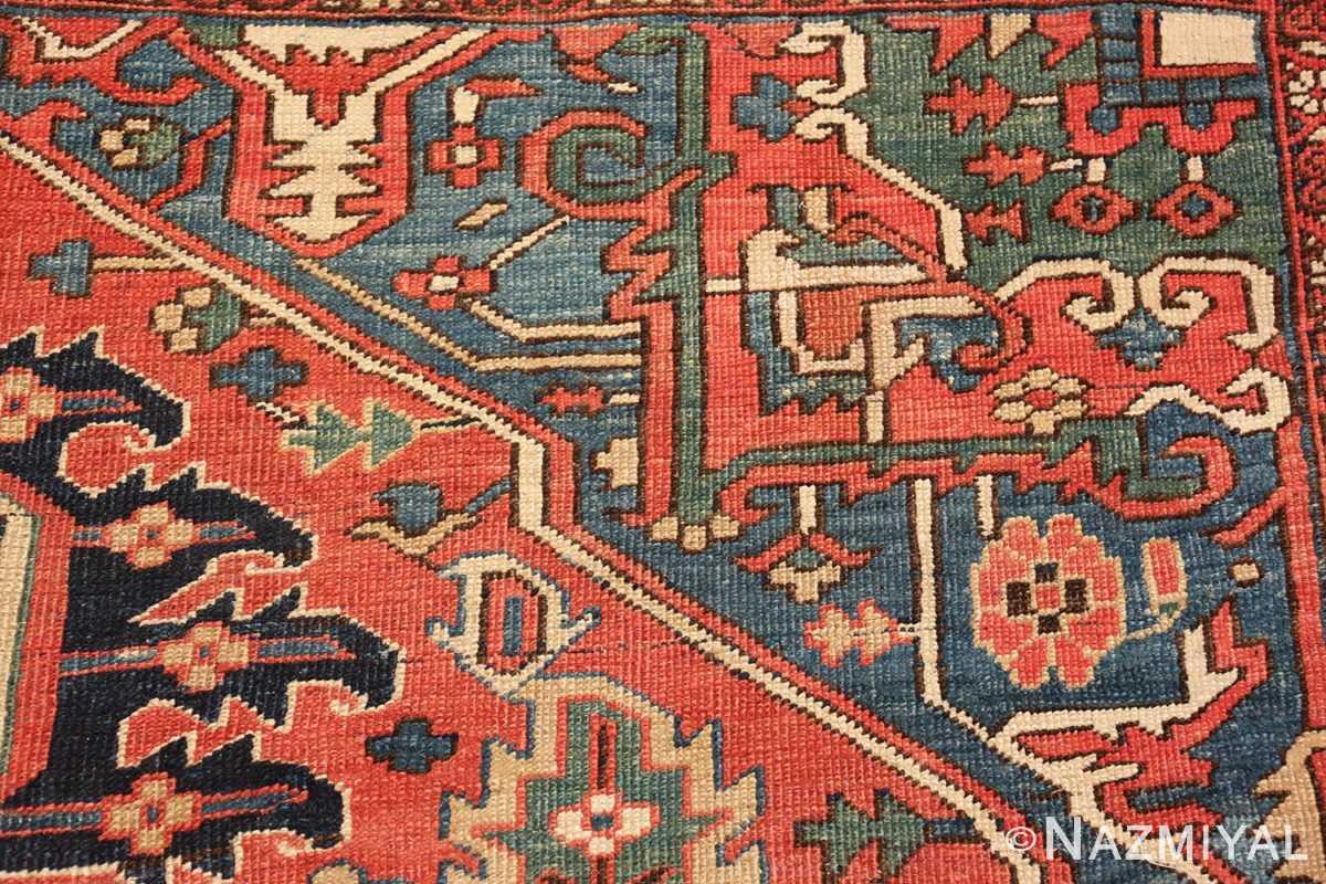 antique room size persian heriz rug 49479 design Nazmiyal