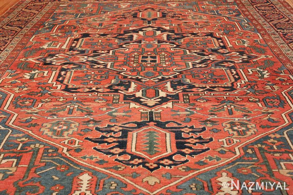 antique room size persian heriz rug 49479 field Nazmiyal