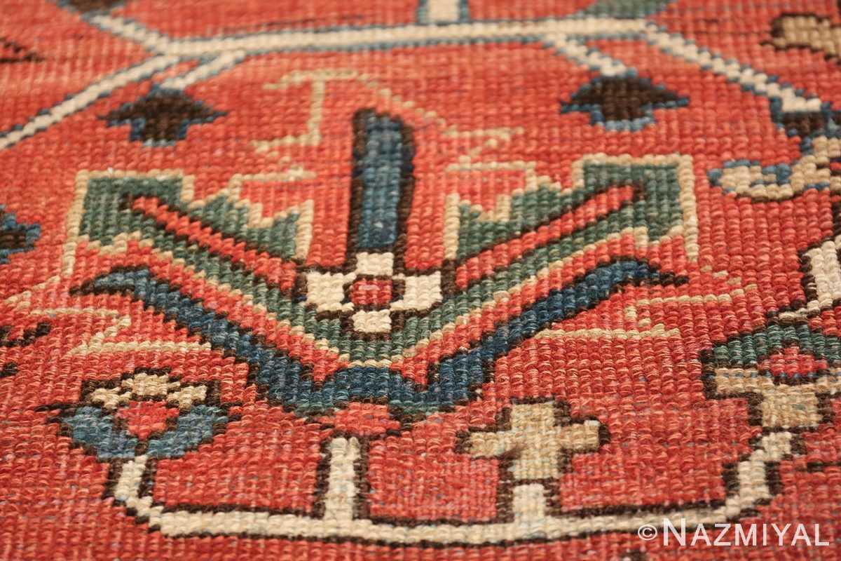 antique room size persian heriz rug 49479 flower Nazmiyal