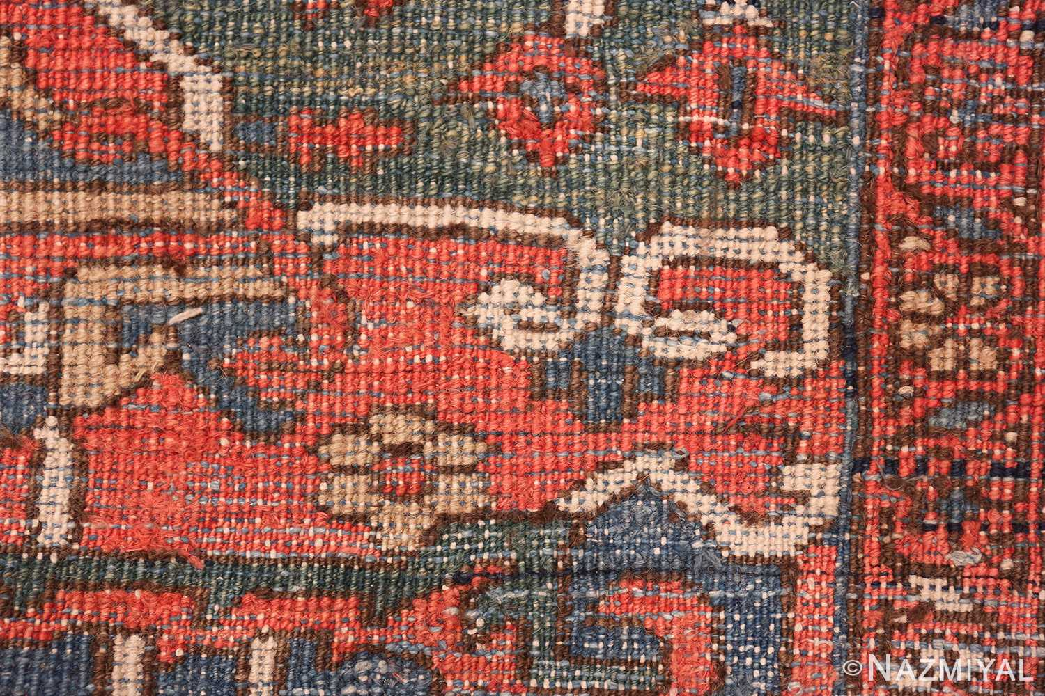 antique room size persian heriz rug 49479 knots Nazmiyal