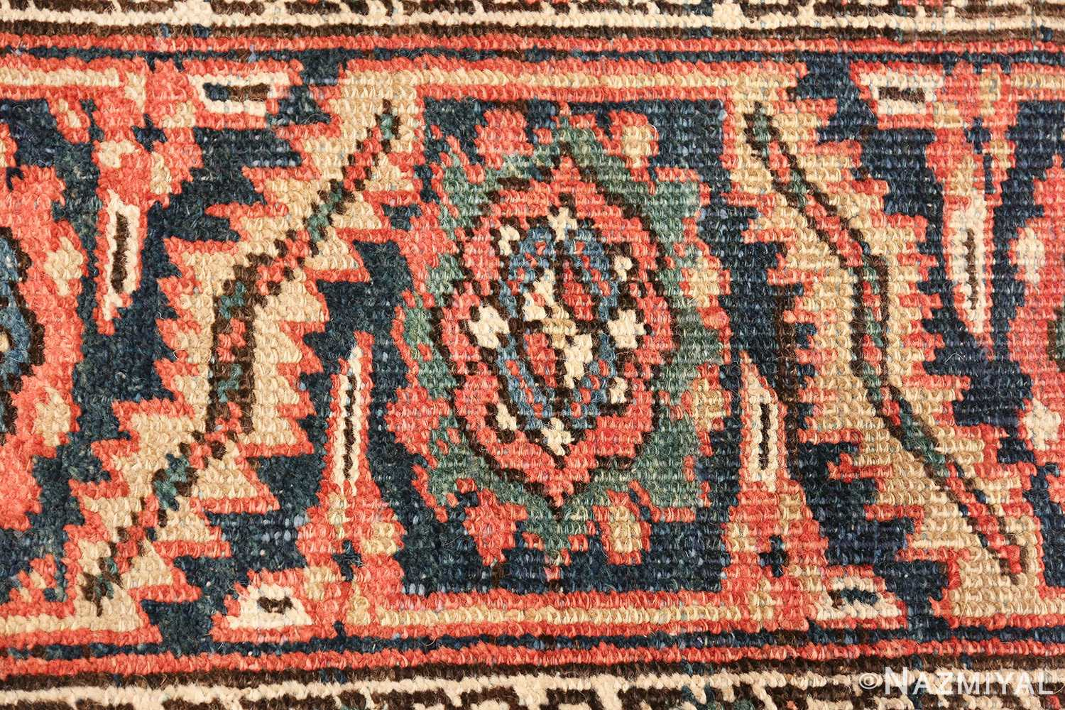 antique room size persian heriz rug 49479 texture Nazmiyal