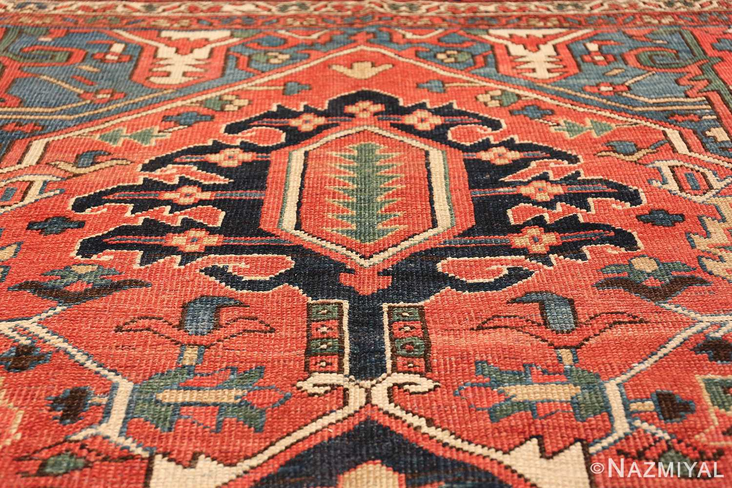 antique room size persian heriz rug 49479 tiara Nazmiyal