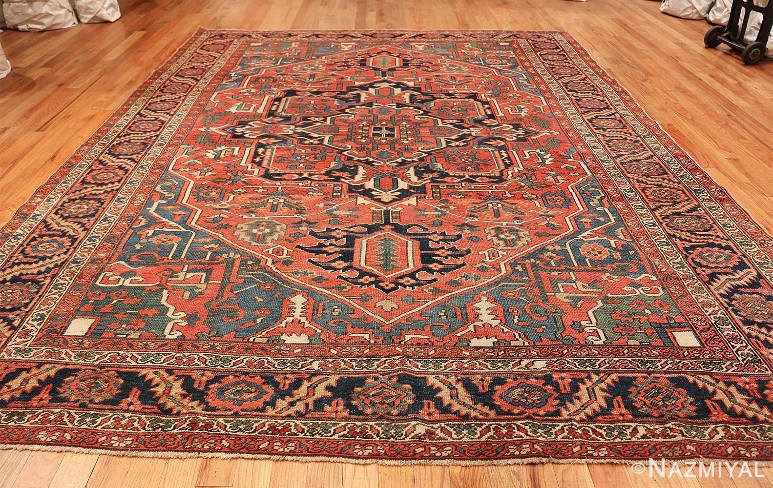 antique room size persian heriz rug 49479 whole Nazmiyal