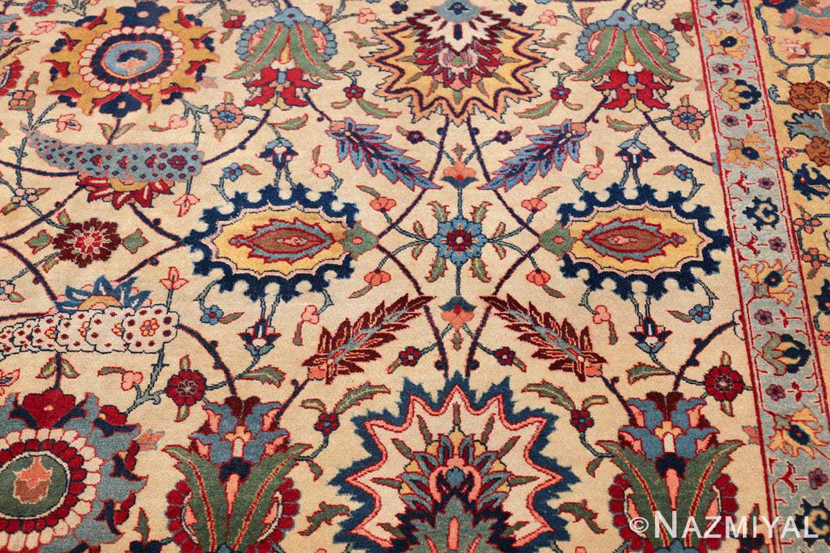 antique sickle leaf design persian tabriz rug 49723 design Nazmiyal