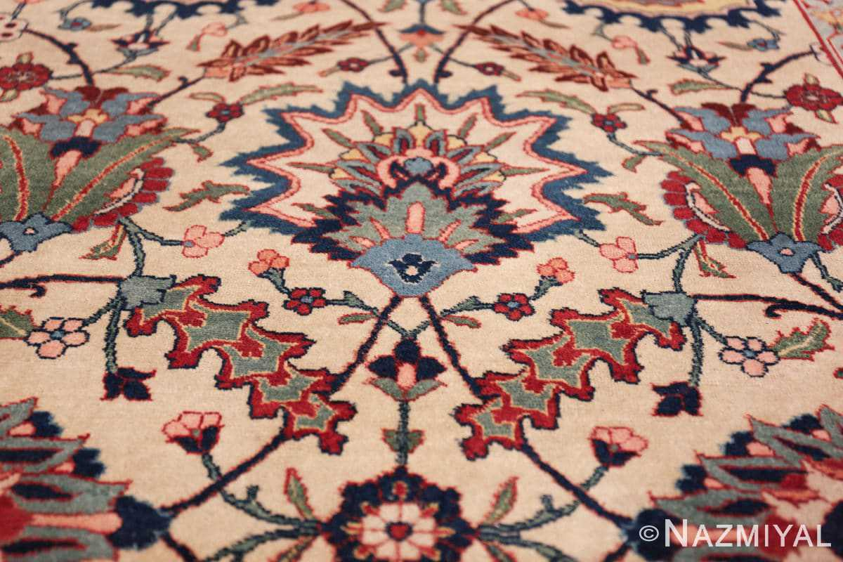 antique sickle leaf design persian tabriz rug 49723 star Nazmiyal