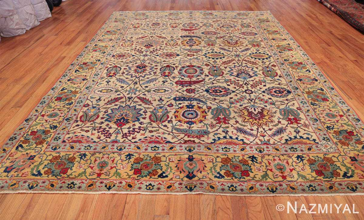 antique sickle leaf design persian tabriz rug 49723 whole Nazmiyal