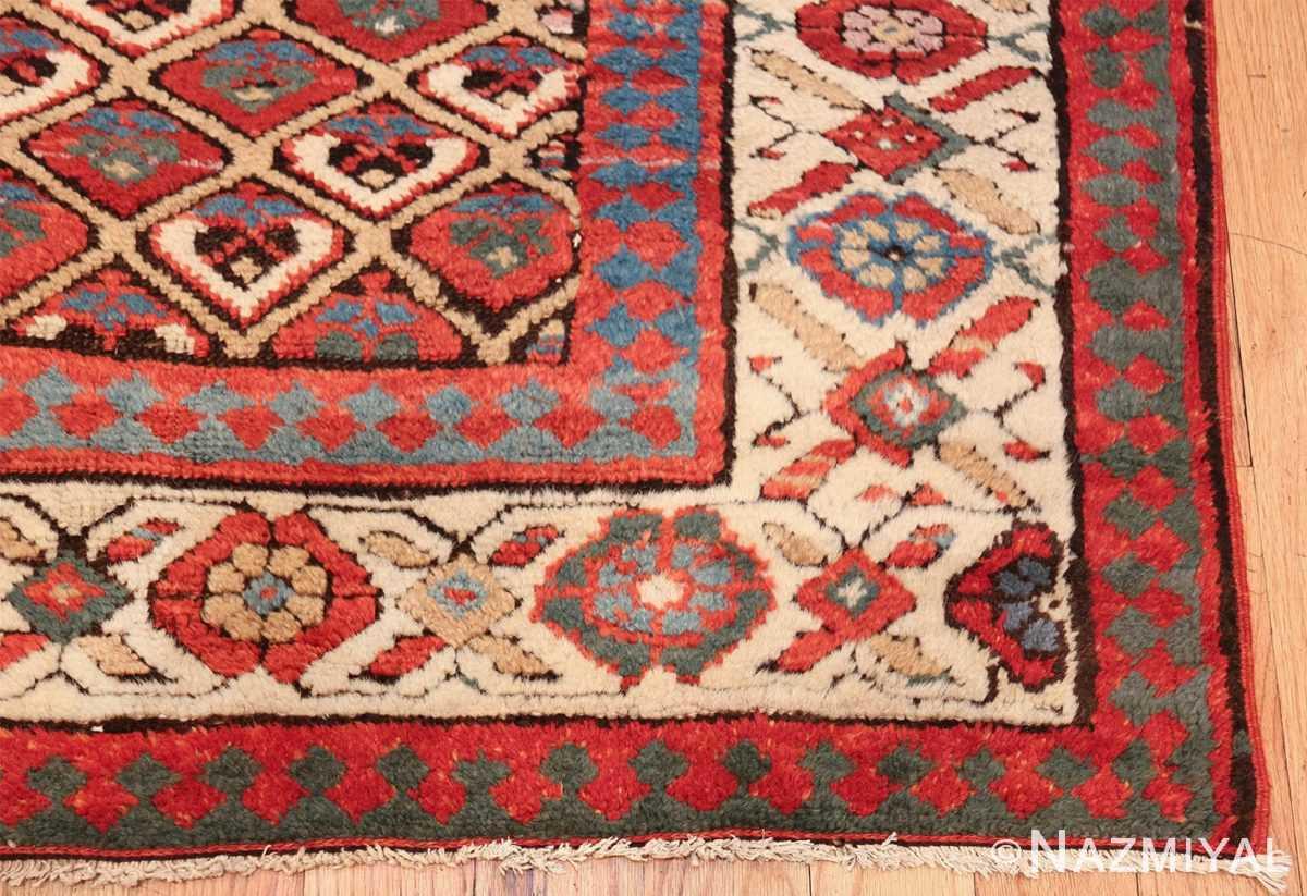 antique tribal persian kurdish runner rug 49710 corner Nazmiyal