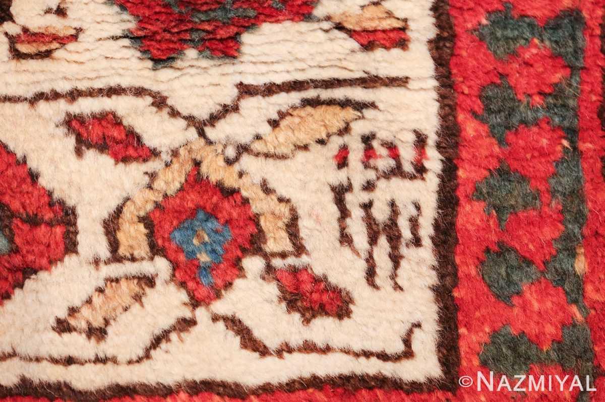 antique tribal persian kurdish runner rug 49710 date Nazmiyal