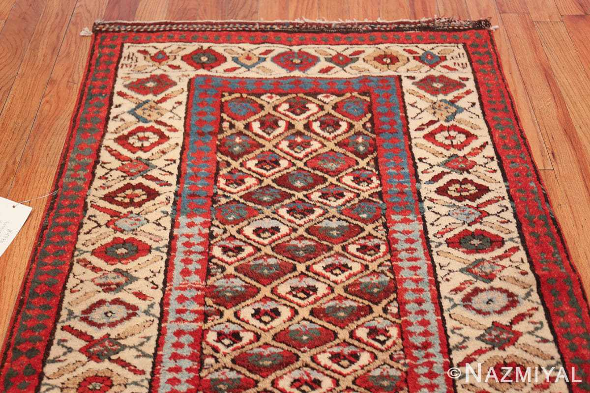 antique tribal persian kurdish runner rug 49710 top Nazmiyal