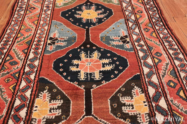 antique tribal persian northwest runner rug 49721 black Nazmiyal