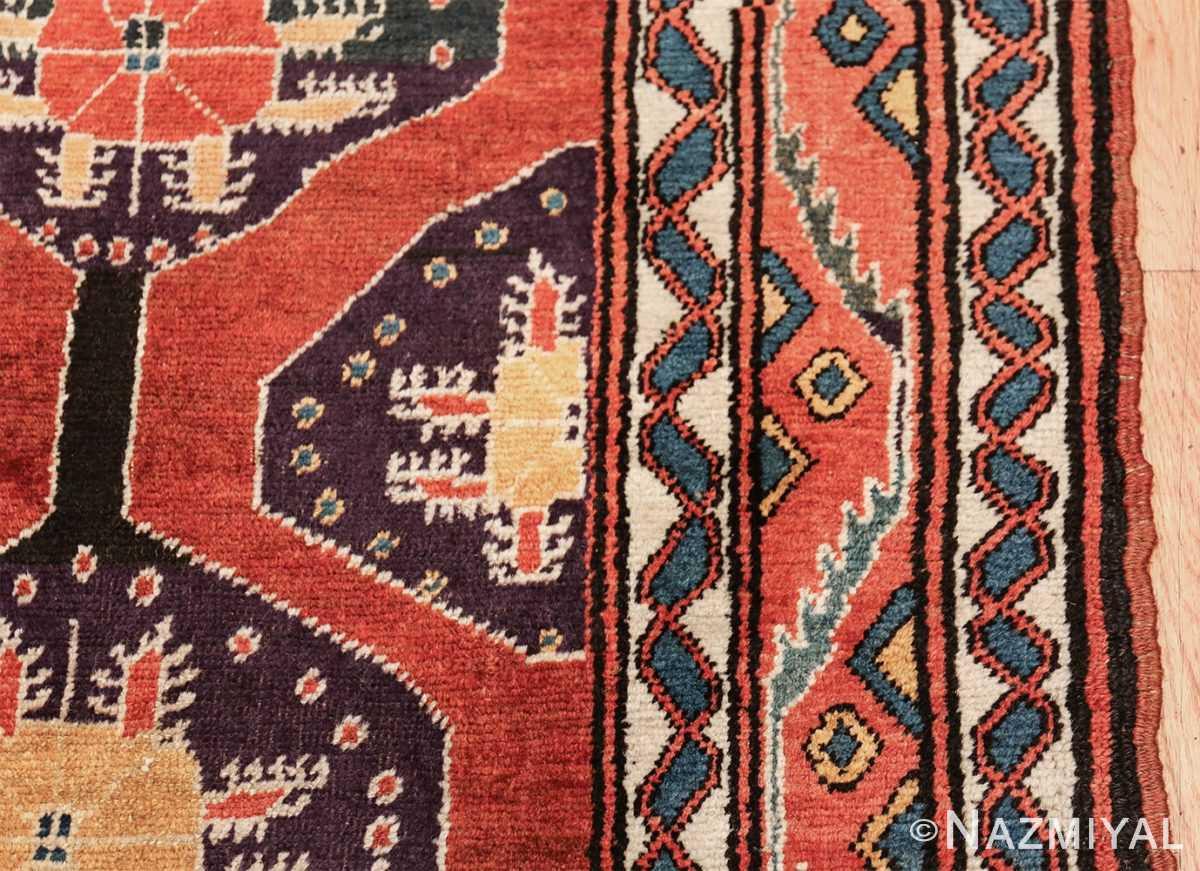 antique tribal persian northwest runner rug 49721 border Nazmiyal