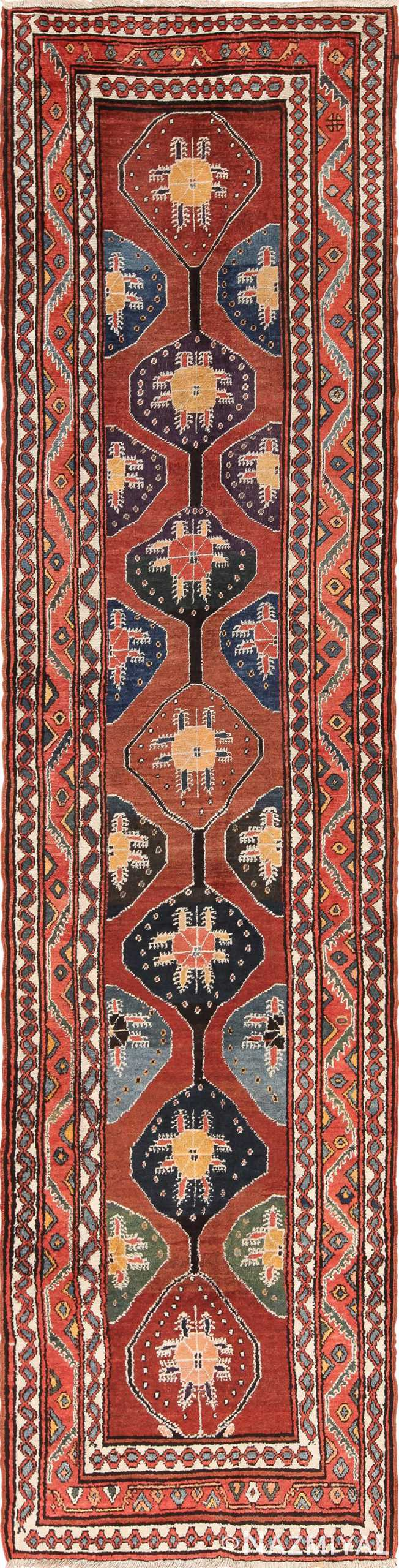 Antique Tribal Northwest Persian Runner Rug 49721 - Nazmiyal