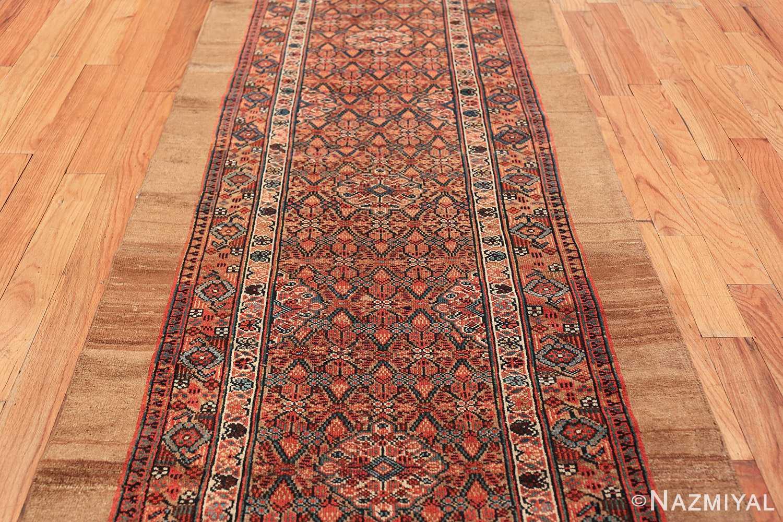 long and narrow antique tribal persian serab runner rug 49719 field Nazmiyal