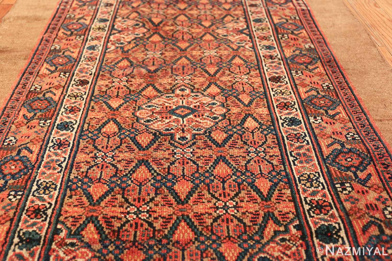 long and narrow antique tribal persian serab runner rug 49719 medallion Nazmiyal