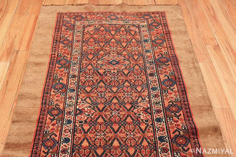 long and narrow antique tribal persian serab runner rug 49719 top Nazmiyal