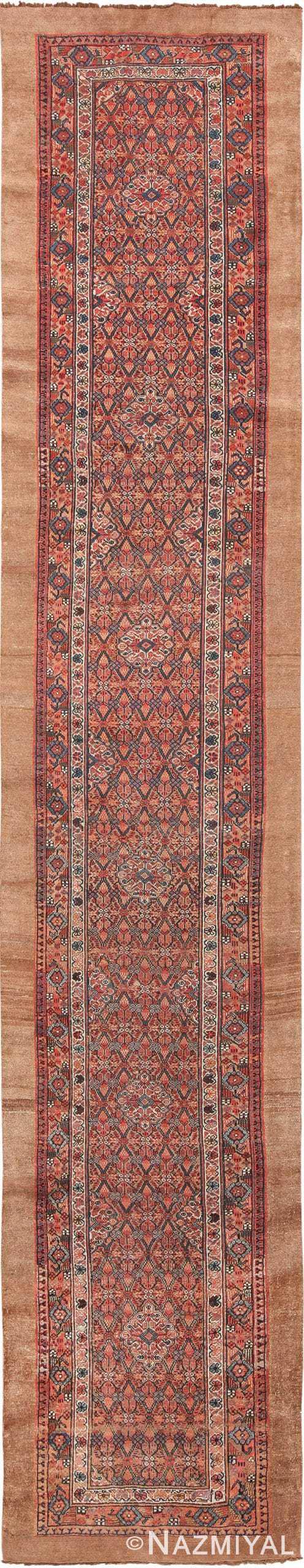 Long and Narrow Antique Tribal Persian Serab Runner Rug 49719 - Nazmiyal