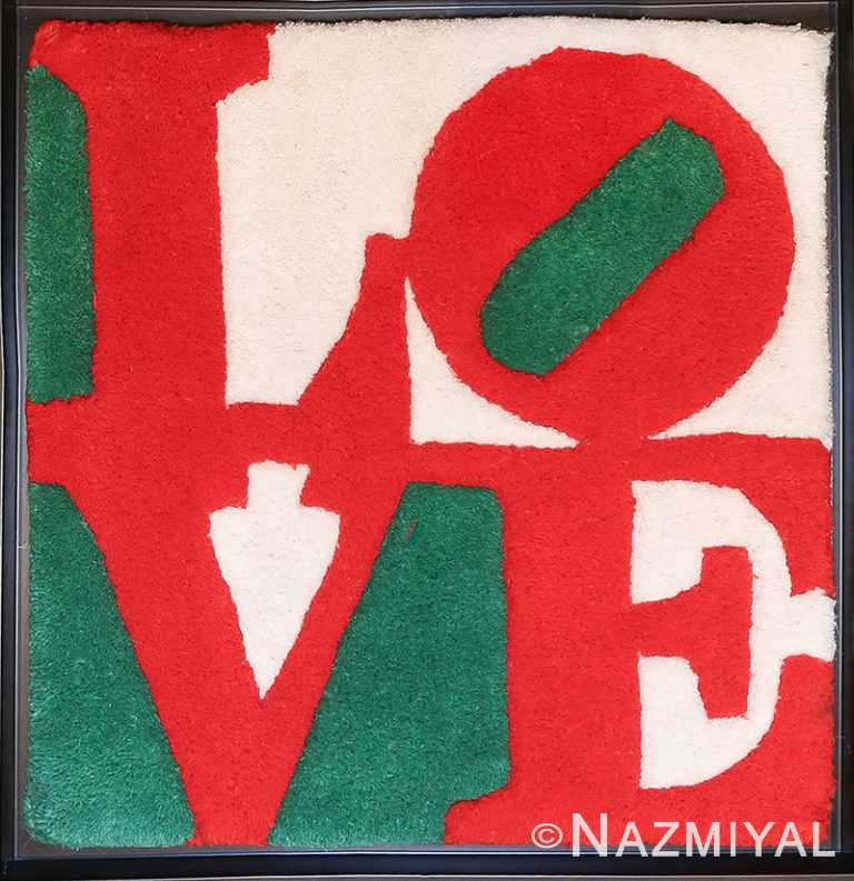 Modern Pop Art Robert Indiana Love Rug 49740 Nazmiyal