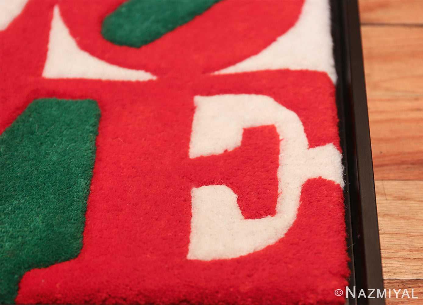 modern pop art classic love rug by robert indiana 49740 letter Nazmiyal