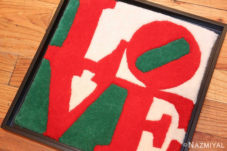 modern pop art classic love rug by robert indiana 49740 side Nazmiyal
