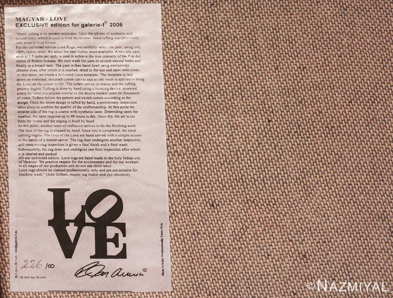 modern pop art classic love rug by robert indiana 49740 tag Nazmiyal