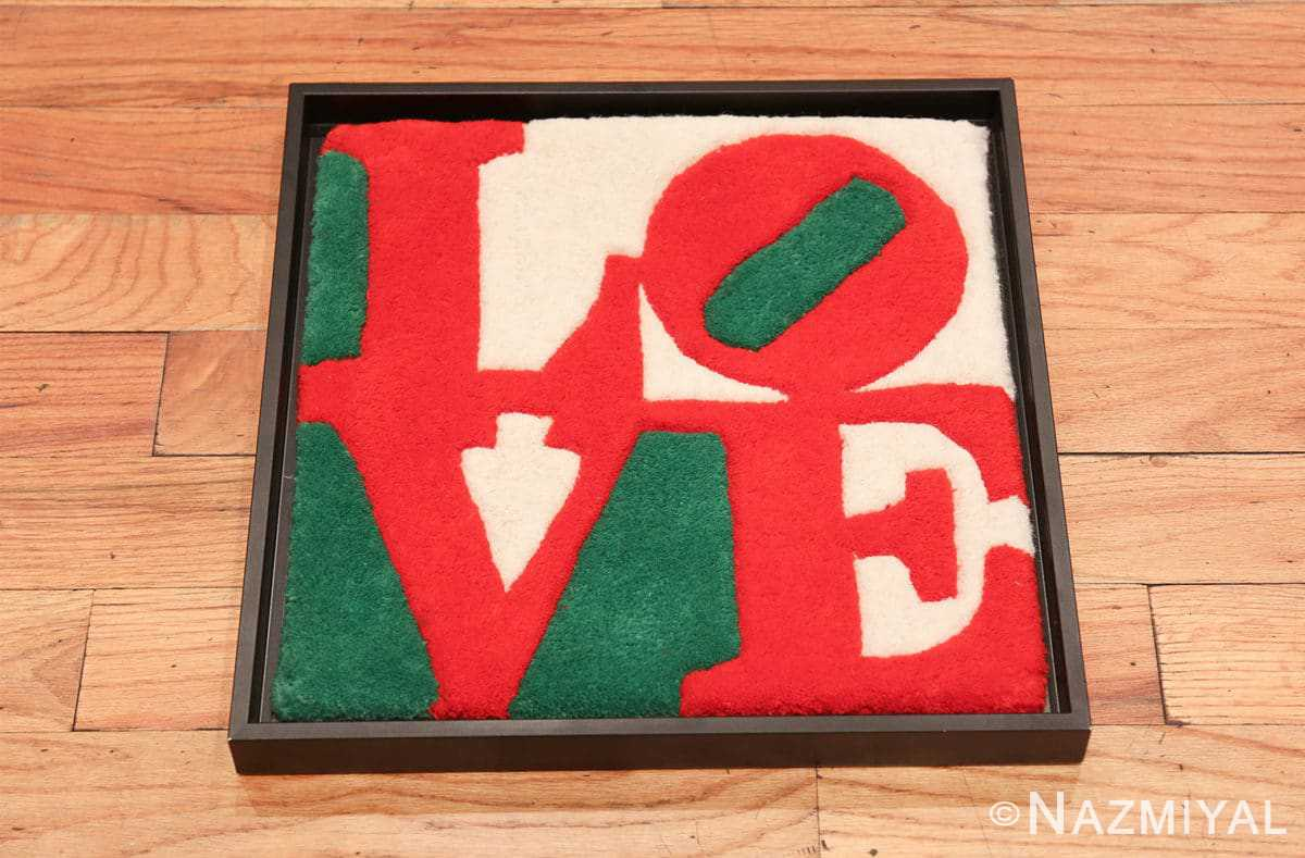 modern pop art classic love rug by robert indiana 49740 whole Nazmiyal