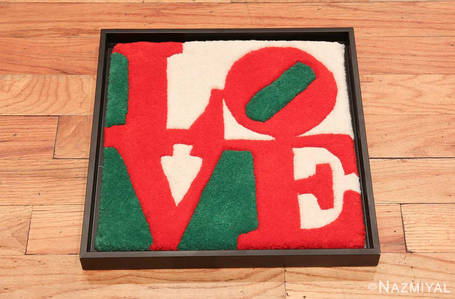 modern pop art classic love rug by robert indiana 49740 whole Nazmiyal