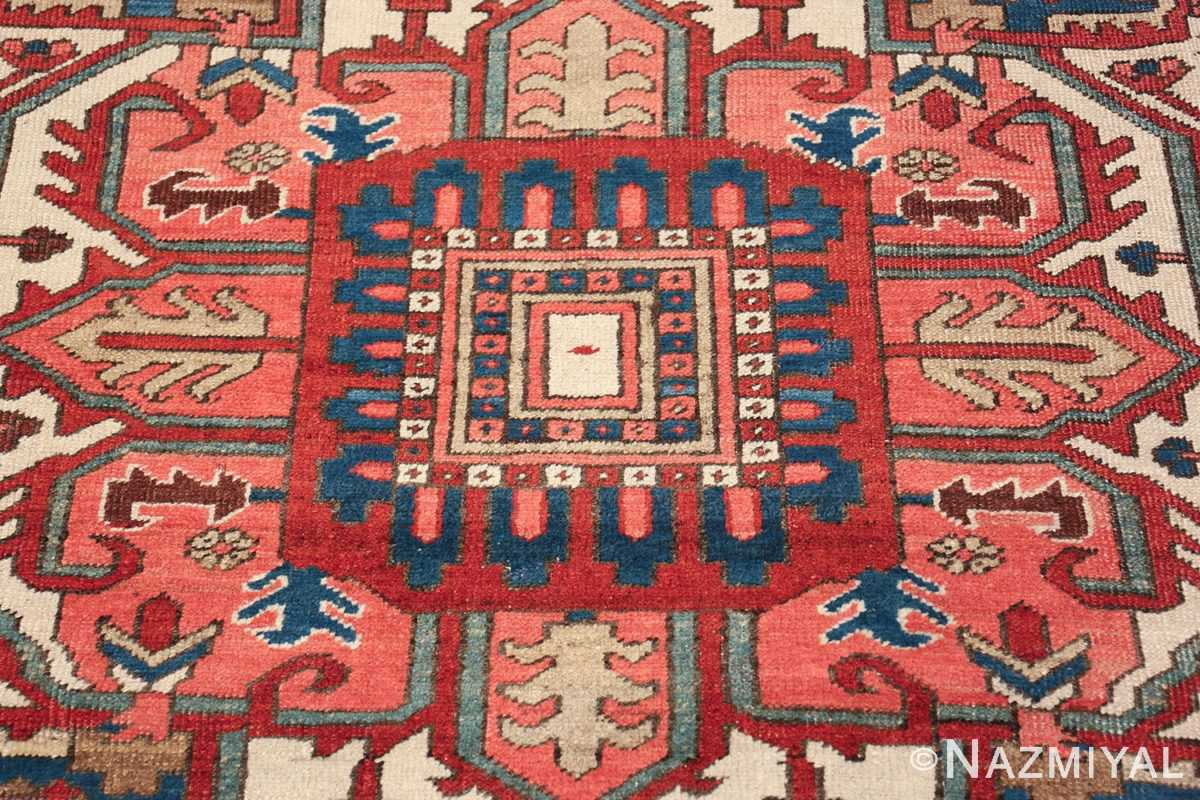 room size antique persian heriz rug 49478 center Nazmiyal
