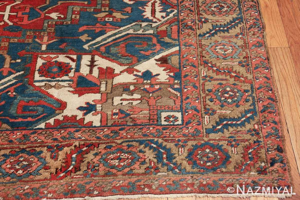 room size antique persian heriz rug 49478 corner Nazmiyal