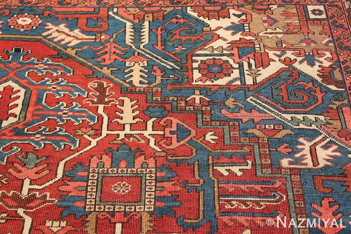 room size antique persian heriz rug 49478 design Nazmiyal