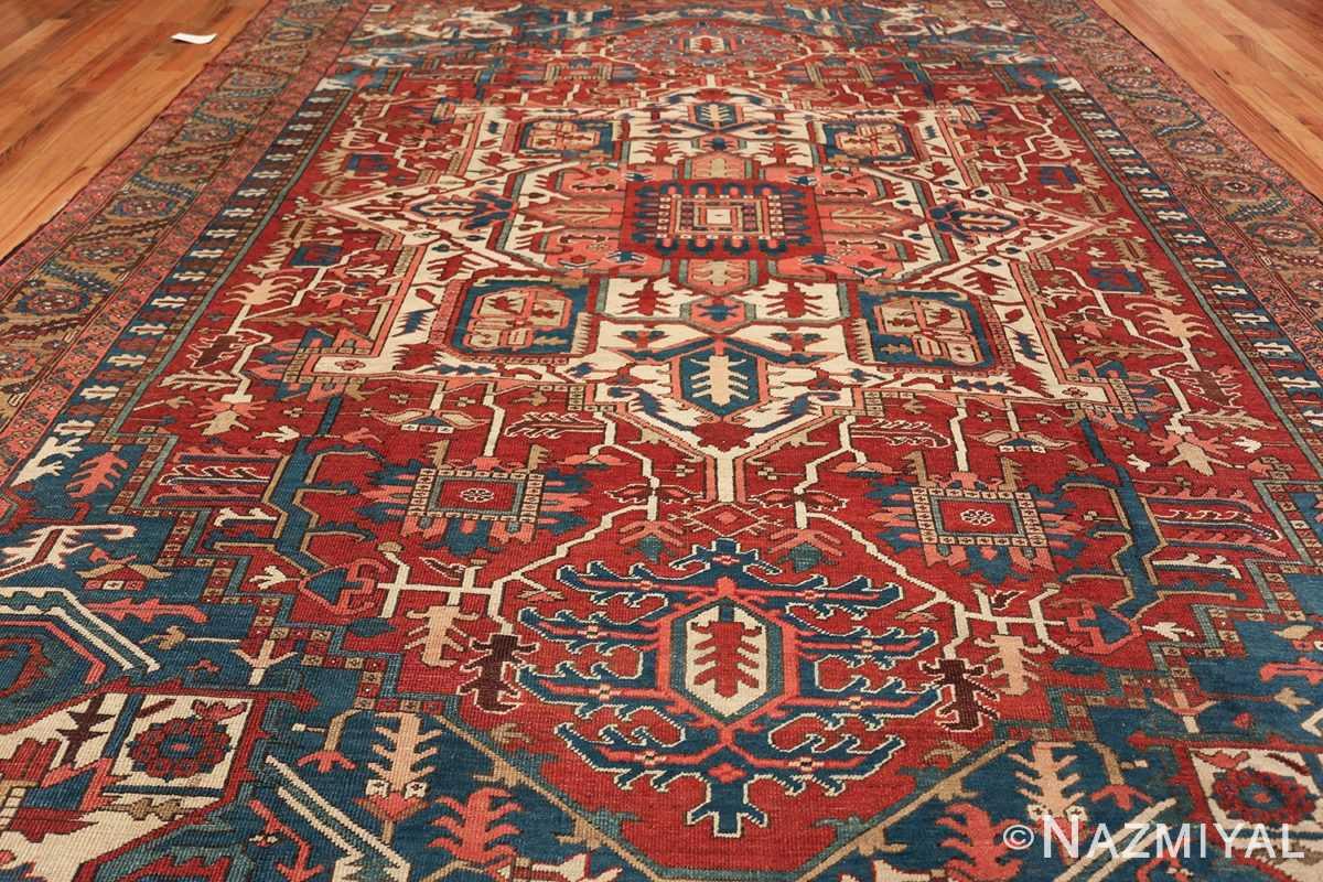 room size antique persian heriz rug 49478 field Nazmiyal