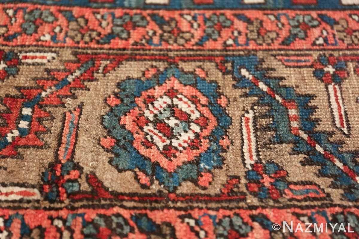 room size antique persian heriz rug 49478 flower Nazmiyal