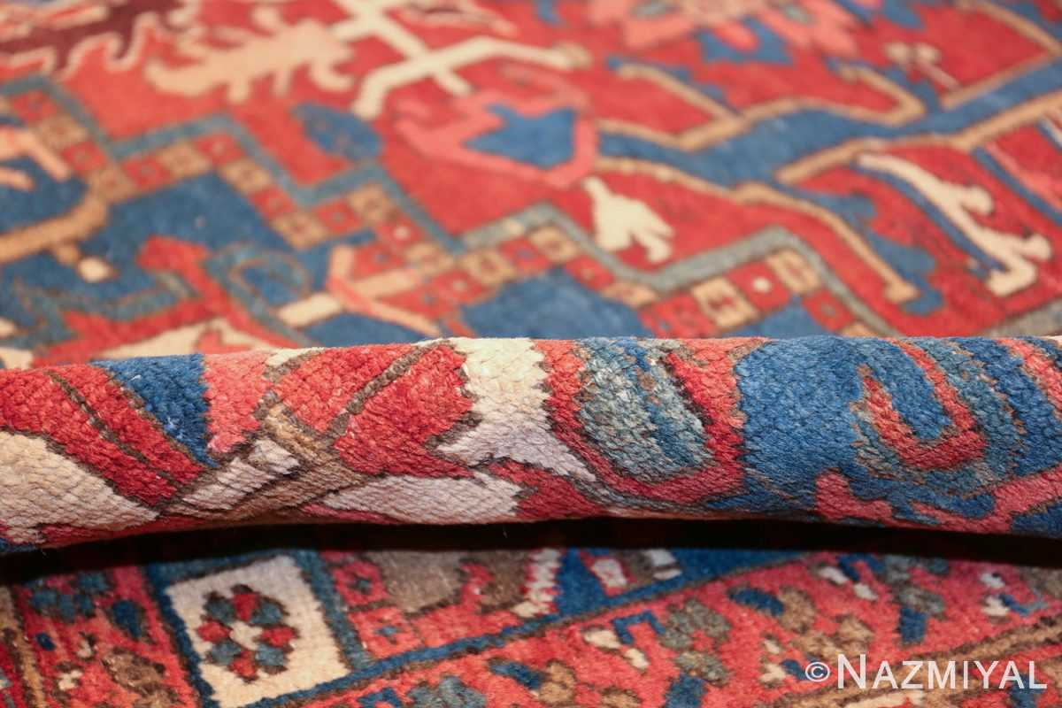room size antique persian heriz rug 49478 pile Nazmiyal