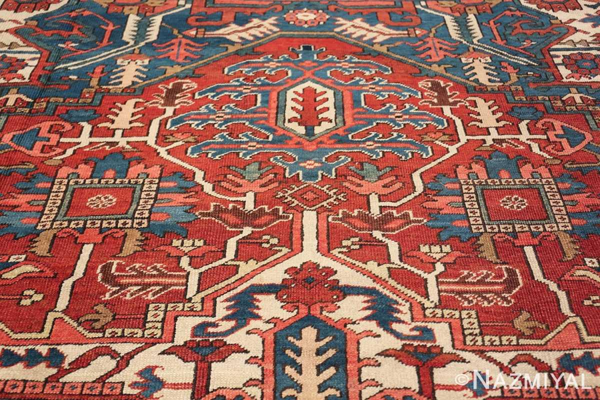 room size antique persian heriz rug 49478 side Nazmiyal
