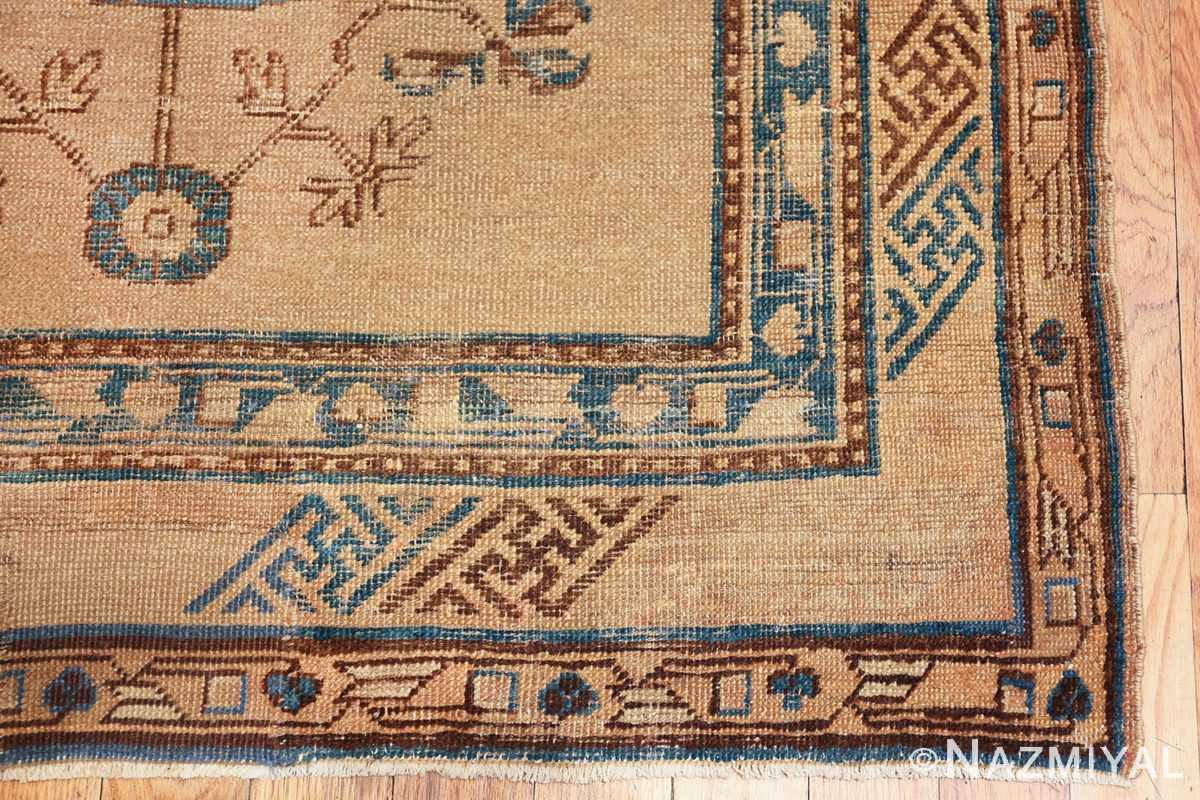 small size antique east turkestan khotan rug 49648 corner Nazmiyal