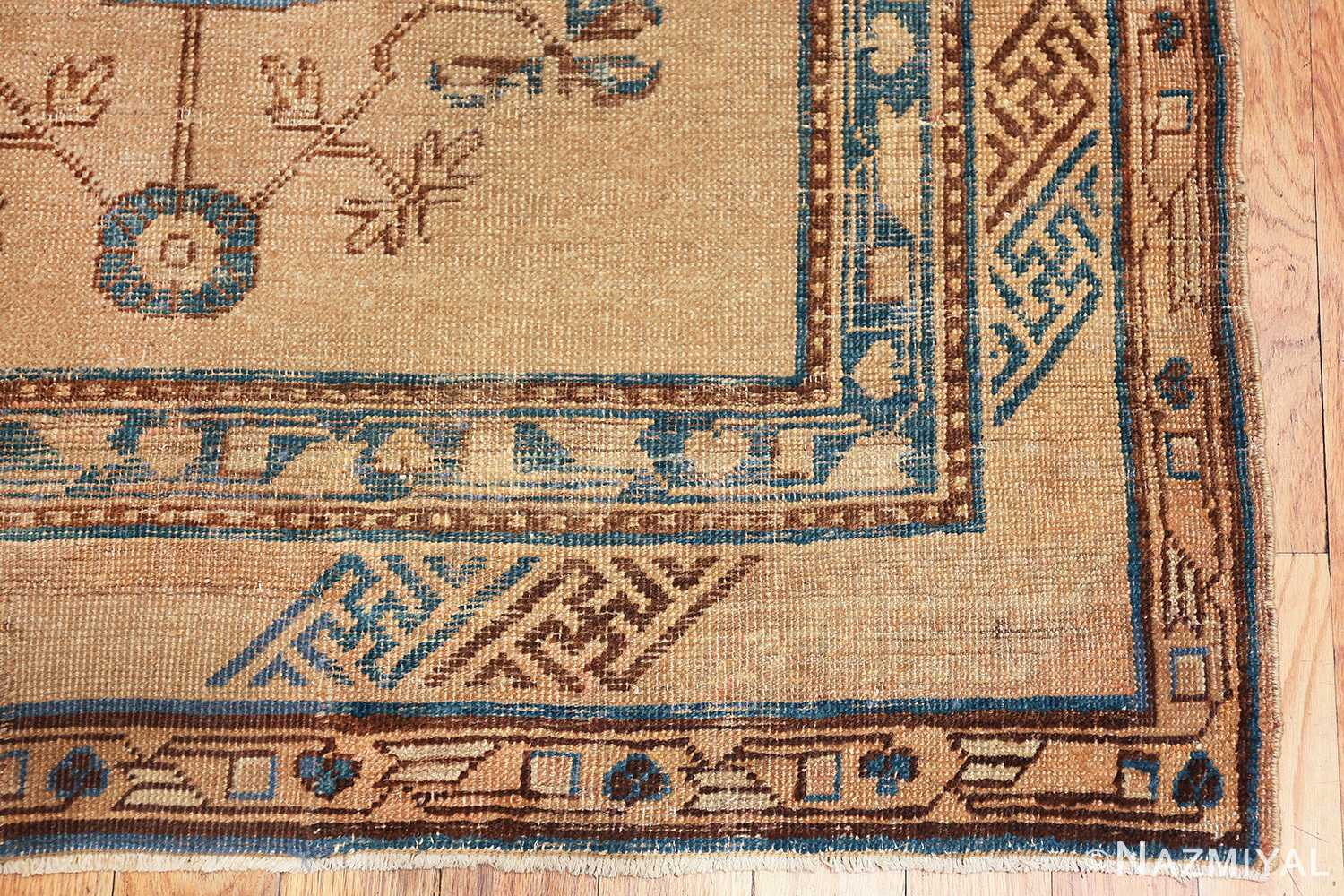 small size antique east turkestan khotan rug 49648 corner Nazmiyal