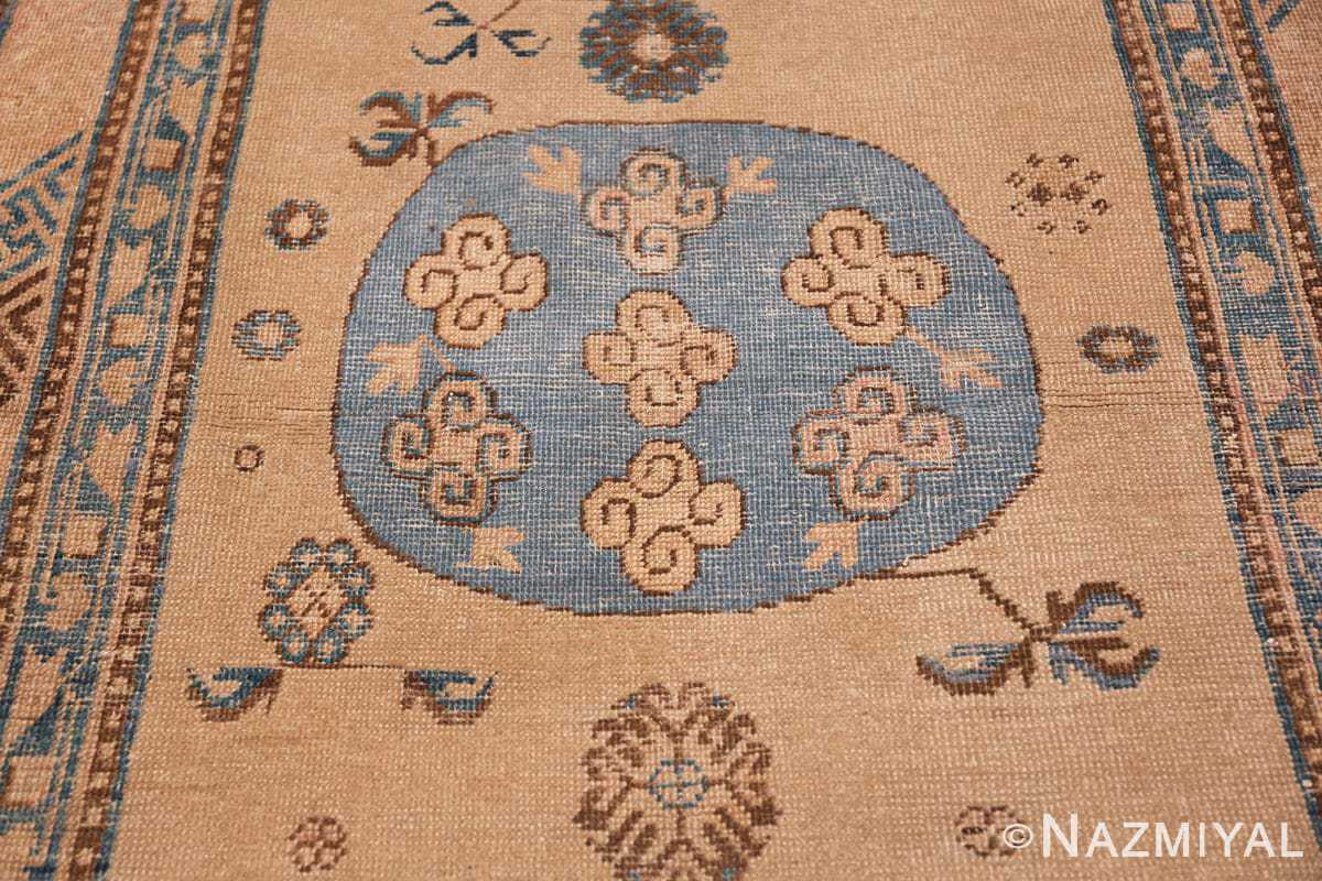 small size antique east turkestan khotan rug 49648 medallion Nazmiyal