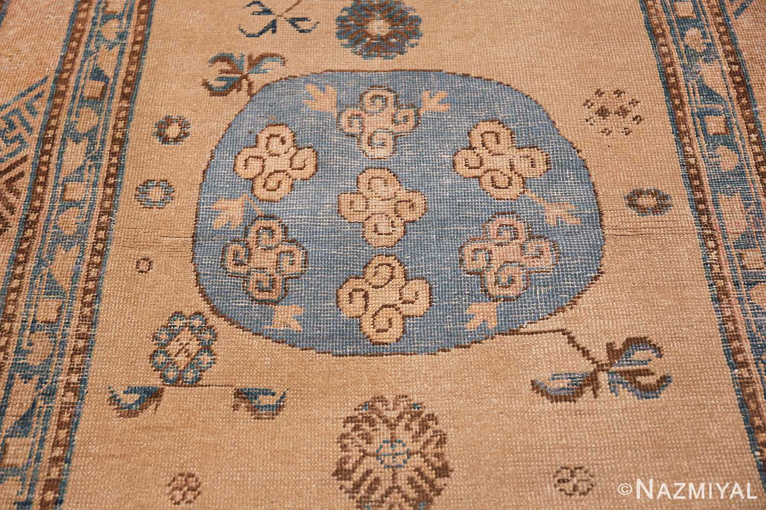 small size antique east turkestan khotan rug 49648 medallion Nazmiyal